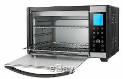 Emerson Convection Rotisserie Countertop Toaster Oven, 6-Slice, Stainless