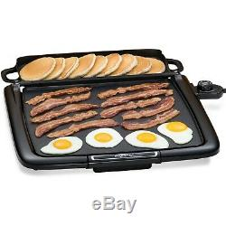 Extra Large Electric Griddle Indoor Grill Nonstick Skillet Countertop Cooking