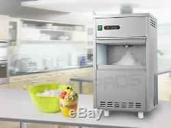 Flake Snow Countertop 44LBS Automatic Crusher Ice Maker Machine Stainless Steel