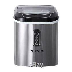Frigidaire 26-lb. Compact Ice Maker Portable Countertop Machine Stainless Steel