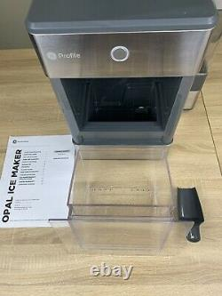 GE Profile Opal Countertop Nugget Ice Maker w Scoop 3 Pound Capacity Gray