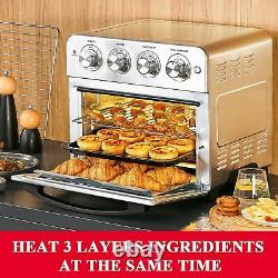 Geek Chef Air Fryer Toaster Oven 6 Slice 24QT Convection Airfryer Countertop US