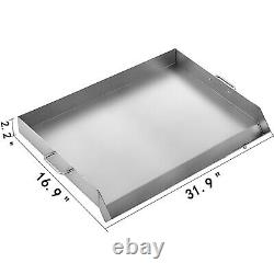 Grill Griddle Grill Non Stick Flat Top Indoor Countertop Portable Large 32x17