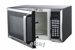 Hamilton Beach 0.9 cu. Ft. Microwave Oven, Stainless Steel Silver Compact
