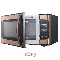 Hamilton Beach 1.1 cu FT Kitchen Microwave Oven Cooking Copper 1000W LED Display
