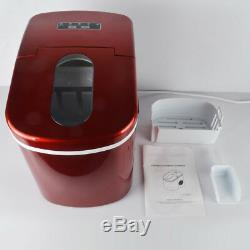 Ice Cube Maker Portable Ice Machine Stainless Steel Compact Countertop