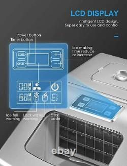 Ice Maker Machine 40lbs/24H Portable Compact Large Storage Basket Countertop