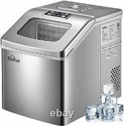 Ice Maker Machine Countertop 40lbs/24H Portable Compact Large Storage Basket
