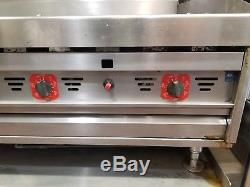 MagiKitch'n 60 Stainless Steel Commercial Countertop Natural Gas Griddle MKG-60