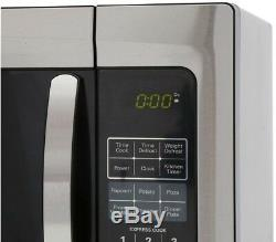Magic Chef 1.6 cu. Ft. 1100 Watts Stainless Steel Microwave Countertop Finish