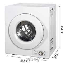 Magic Chef 2.6 cu ft Compact Electric Dryer, White
