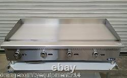 NEW 48 Gas Griddle & Equipment Stand Atosa ATMG-48 4176 Plancha Flat Top Grill