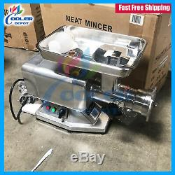 NEW Commercial Electric Meat Grinder Stainless Steel 1.5HP Counter Top NSF