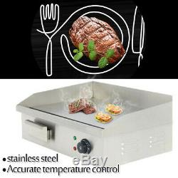 New 3000W Commercial Stainless Steel Electric Griddle Grill Home BBQ Plate 110V