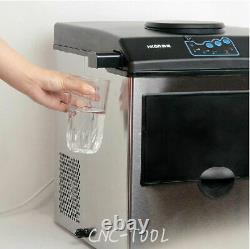 New Electric Auto Countertop Ice Maker Bullet Ice Cube Making Machine 160W 220V