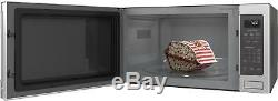 Open-Box Excellent GE Profile 2.2 Cu. Ft. Microwave Stainless steel
