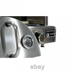 Pizza Oven In Silver Stainless Steel Countertop Propane
