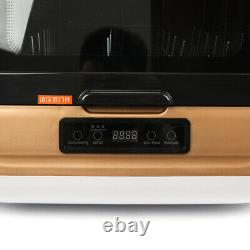 Portable 5L Complete Countertop Dishwasher 360° Streak-Free Deep Cleaning