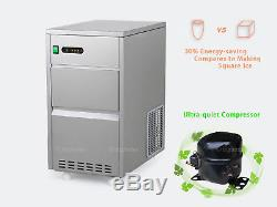 Portable Bullet Countertop Ice Maker 60 lbs/day Stainless Steel Machine