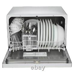 Portable Countertop Dishwasher 6 Place Setting Capacity Home Kitchen Sink Faucet