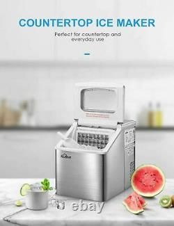Portable Ice Maker Machine Countertop 40Lbs/24H Large Storage Self-cleaning
