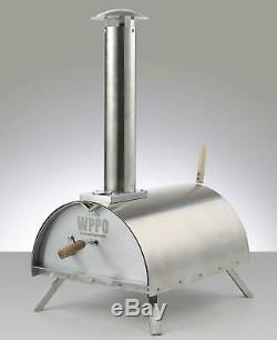 Portable Wood with Charcoal Fired Pizza Oven with Cooking Kit