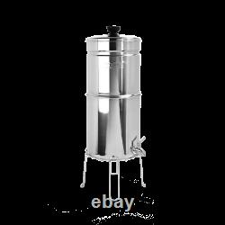 Propur Traveler plus Polished Countertop Gravity Water Filter System With 5 Filte