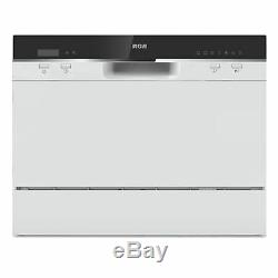 RCA RDW3208 Home Kitchen 6 Place Setting Portable Countertop Dishwasher, White