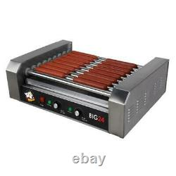 Roller Dog Commercial 24 Hot Dog 9 Roller Grill Cooker Machine RDB24SS