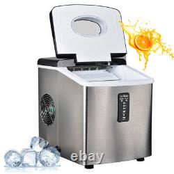 SMAD Stainless Steel Ice Maker Fridge Portable Ice Cube Compact Bar Machine Home