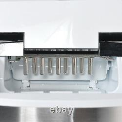 Stainless Steel 33 lbs Countertop Ice Cubes Machine Portable Compact Ice Maker