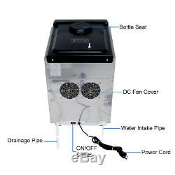 Stainless Steel Commercial Ice Maker Built-In countertop Freestand 100lbs/24HR