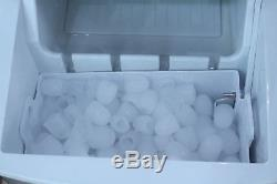 Stainless Steel Cool Ice Maker Portable Countertop Icemaker Machine 33lb/24Hours
