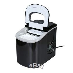 Stainless Steel Ice Maker 26lb Cube Machine Portable Countertop Kitchen Icemaker