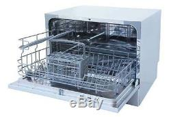 Sunpentown Countertop Dishwasher Portable Compact Silver SD-2213S