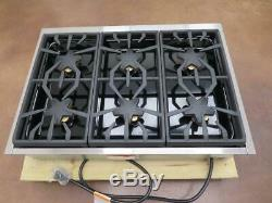 THERMADOR 36 6 Pedestal Star Burner Stainless Pro-Style Gas Rangetop PCG366G
