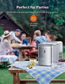 TaoTronics 304 Stainless Steel 26 LB 2.1L Countertop Electric Ice Maker Machine