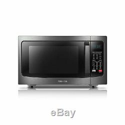 Toshiba EC042A5C-BS 1.5 Cubic Foot Stainless Convection Microwave Oven, Black