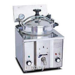 USA Portable Commercial Electric Countertop Pressure Fryer 16L Chicken Fish