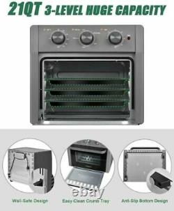 US 5in1 Air Fryer Toaster Oven 21 Quart Countertop Convection Oven with Air Fry