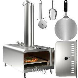VEVOR Outdoors Portable Pizza Oven Pellet Grill Wood BBQ Smoker Food