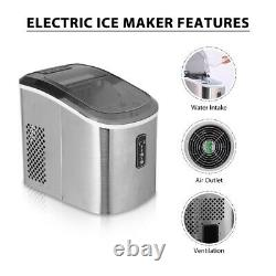 VIVOHOME Electric Ice Cube Maker Countertop Compact Stainless Steel Home 26 lbs