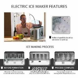 VIVOHOME Stainless Steel Electric Ice Cube Maker Countertop Compact Machine 26lb