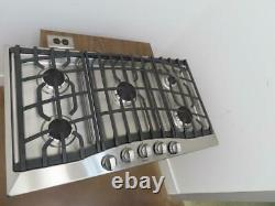 Viking 36 Inch 5 Sealed Burners Aluminum Flame Ports Gas Cooktop RVGC33615BSSLP