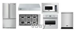 Viking Kitchen 36 Gas Cooktop, 36 Refrigerator, Oven, Microwave, Hood