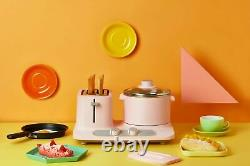 Vintage Electric Pink Breakfast Center Non-Stick Set with Toaster and Hot Plate