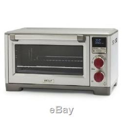 WOLF GOURMET WGCO150S, Countertop Convection Oven Elite Red Knobs