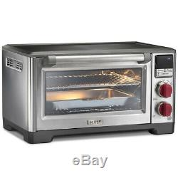 Wolf Gourmet WGCO150S Elite Countertop Convection Oven With Red Knobs