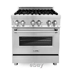 ZLINE 30 Inch Professional Stainless Steel Gas Cooktop Range Oven with 4 Burners